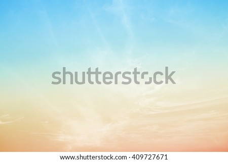 artistic fluffy cloud and sky with gradient color - stock photo