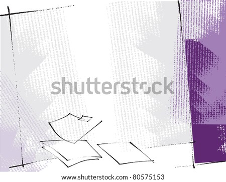 artistic freehand grunge background - raster version - stock photo
