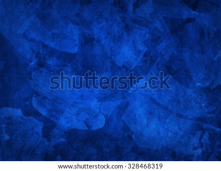 Artistic hand painted multi layered dark blue background - stock photo