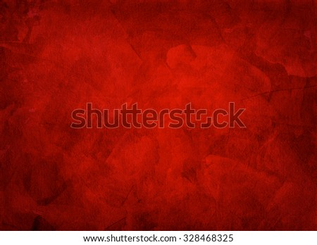 Artistic hand painted multi layered red background - made for christmas purpose  - stock photo