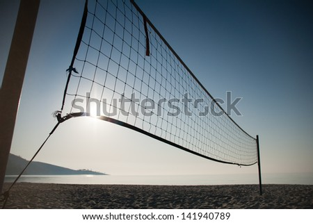 Artistic look at the net of beach volley. - stock photo