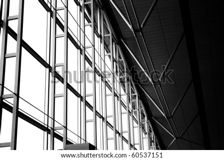 Artistic metallic structure in black and white tone