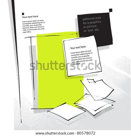artistic page layout / background  (raster version) - stock photo