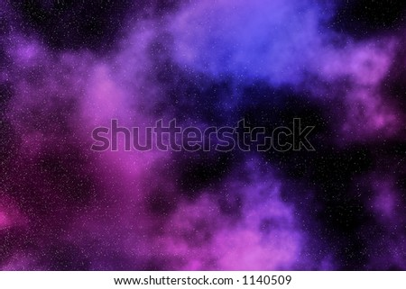 Artistic representation of a nebula - stock photo