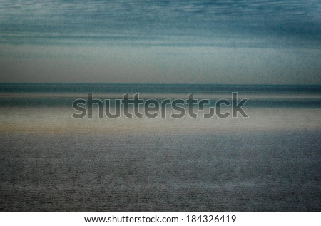 Artistic sea and sky in the afternoon - stock photo