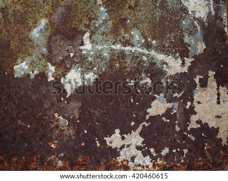 artistic texture of an old aged weathered rusty abandoned smooth rustic steel metal plate iron sheet surface. - stock photo