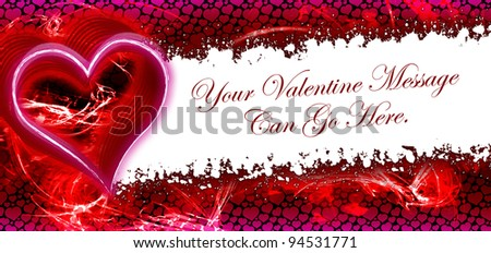 Artistic Valentine Heart Background - customize with your personal message - stock photo