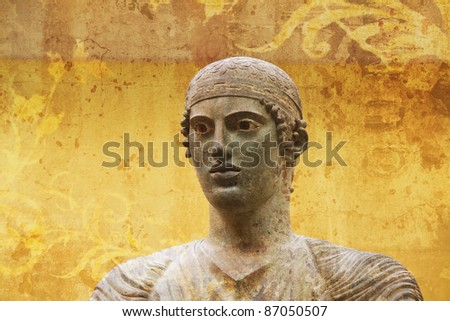 artistic view ancient greek statue