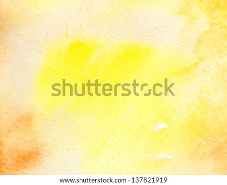 Artistic watercolor background of sunny colors