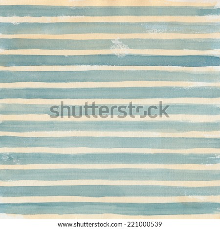 Artistic watercolor striped background  - stock photo