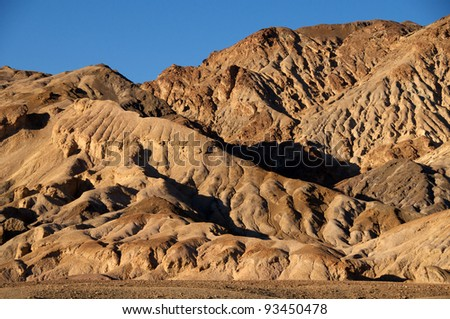 Artists Drive, Death Valley, California National Park - stock photo
