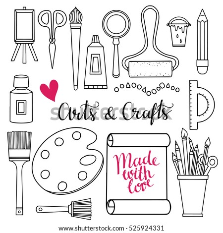 Diy icons stock images royalty free images vectors for Arts and crafts tools