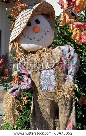 Arts and crafts scarecrow - stock photo