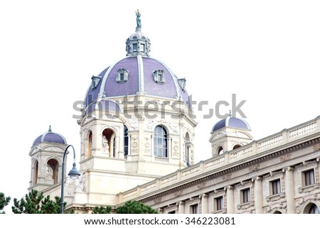 Arts and history museum Kunsthistorisches Museum, Vienna  (Austria). - stock photo