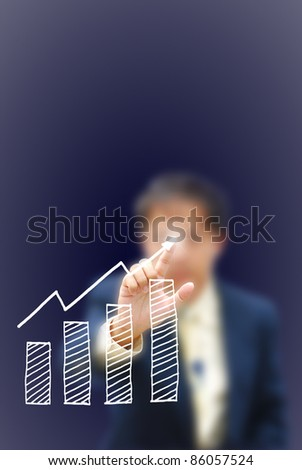 artwork for business idea from business person. - stock photo