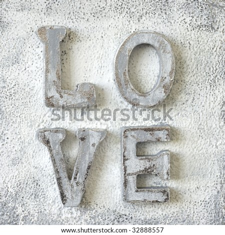 artwork with word love, artwork is created and made by myself - stock photo