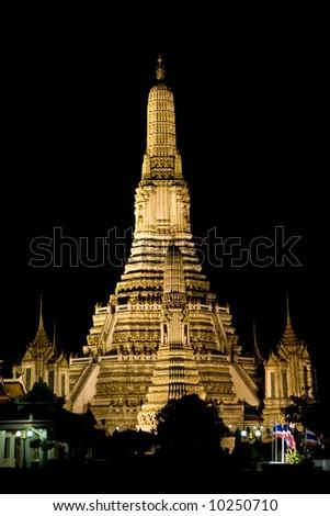 Arun temple in Bangkok Thailand - stock photo