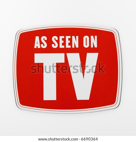 As seen on TV sign. - stock photo