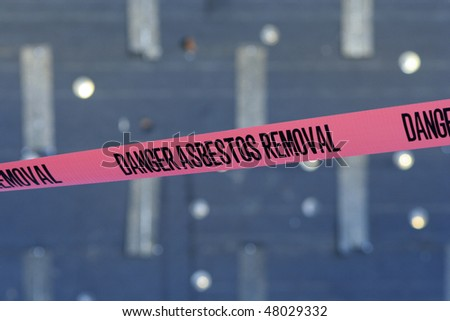 Asbestos Tape - stock photo