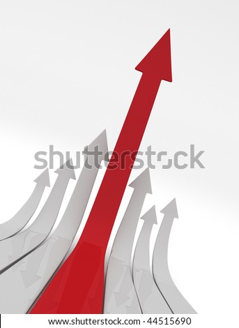 Ascending Arrows Upwards - stock photo