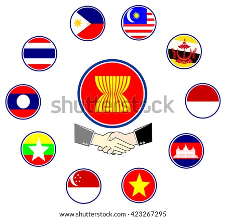 Asean Economics Community partnership chain and network