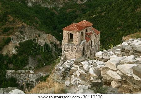 Asenova Krepost citadel in Asenovgrad, central Bulgaria - stock photo