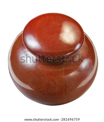ash urn isolated close up - stock photo