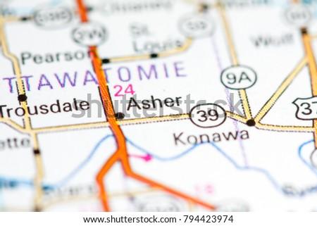 oklahoma usa on a map