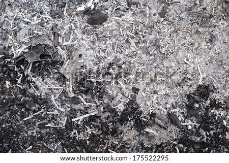 ashes background, texture - stock photo