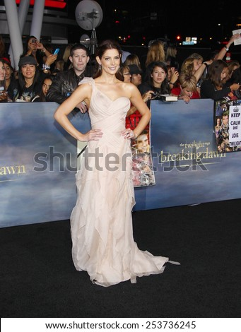 "Ashley Greene at the Los Angeles Premiere of ""The Twilight Saga: Breaking Dawn - Part 2"" held at the Nokia L.A. Live Theatre in Los Angeles, California, United States on November 12, 2012. - stock photo"