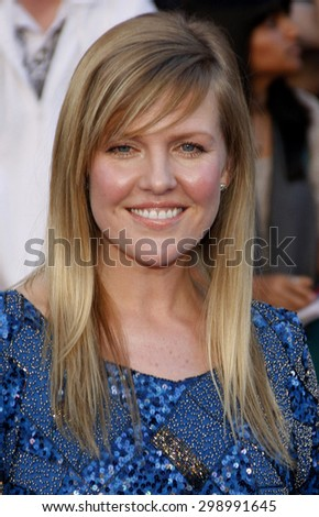 Ashley Jensen at the Los Angeles premiere of 'Gnomeo And Juliet' held at the El Capitan Theatre in Hollywood on January 23, 2011.  - stock photo