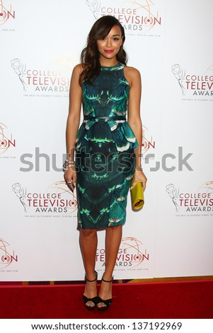 Ashley Madekwe at the 2013 College Television Awards, JW Marriott, Los Angeles, CA 04-25-13 - stock photo