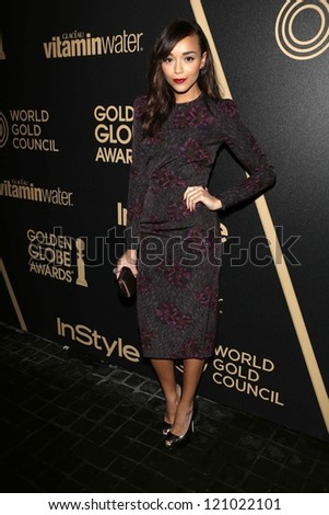 Ashley Madekwe at the Hollywood Foreign Press Association And InStyle Miss Golden Globe 2013 Party, Cecconi's, Los Angeles, CA 11-29-12