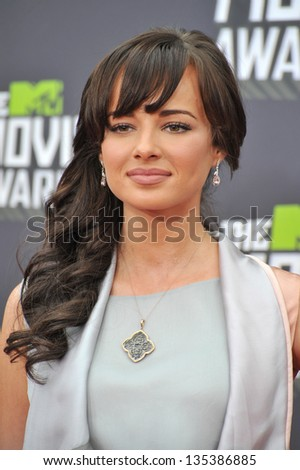 Ashley Rickards at the 2013 MTV Movie Awards at Sony Studios, Culver City. April 14, 2013  Los Angeles, CA Picture: Paul Smith