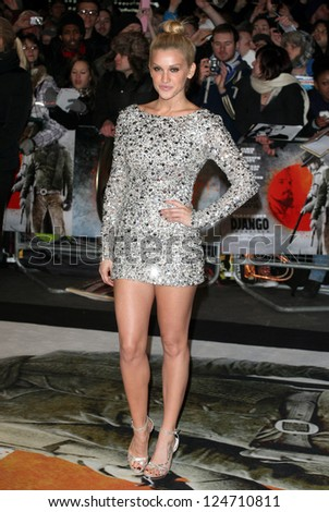 Ashley Roberts arriving for the Django Premiere, at Empire Leicester Square, London. 10/01/2013 Picture by: Alexandra Glen