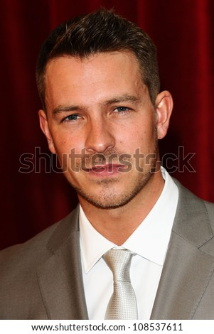 Ashley Taylor Dawson arriving for the British Soap Awards 2012 at London TV Centre, South Bank, London. 28/04/2012 Picture by: Steve Vas / Featureflash