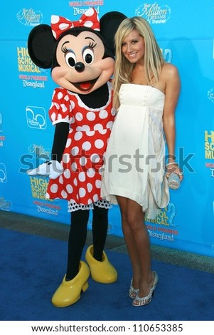 "Ashley Tisdale at the world premiere of Disney's ""High School Musical 2"". Downtown Disney, Anaheim, CA. 08-14-07"