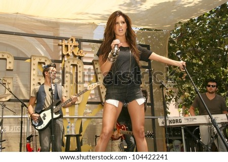Ashley Tisdale  performing live to promote her new album 'Guilty Pleasure'. The Grove, Los Angeles, CA. 06-27-09