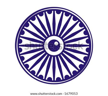 Ashok wheel - stock photo