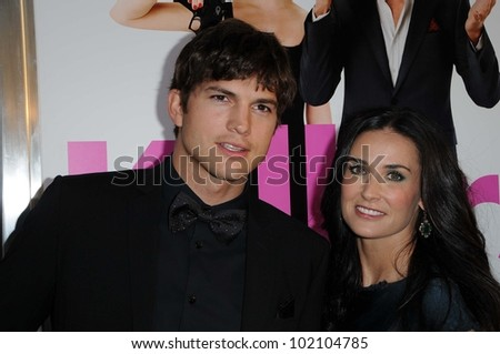 "Ashton Kutcher and Demi Moore at the ""Killers"" Los Angeles Screening, Cinerama Dome, Hollywood, CA. 06-01-10 - stock photo"