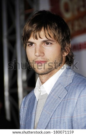 Ashton Kutcher at OPEN SEASON Premiere, Greek Theatre in Griffith Park, Los Angeles, CA, September 25, 2006 - stock photo