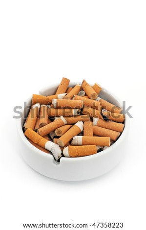 Ashtray with cigarettes