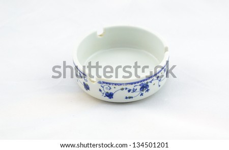 ashtray with white background
