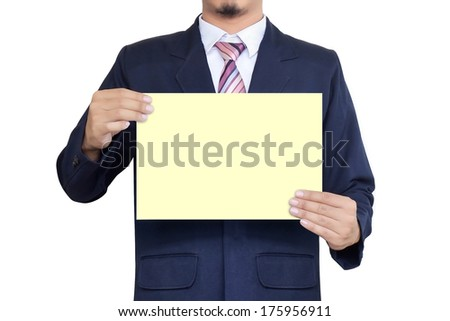 asia businessman holding the paper