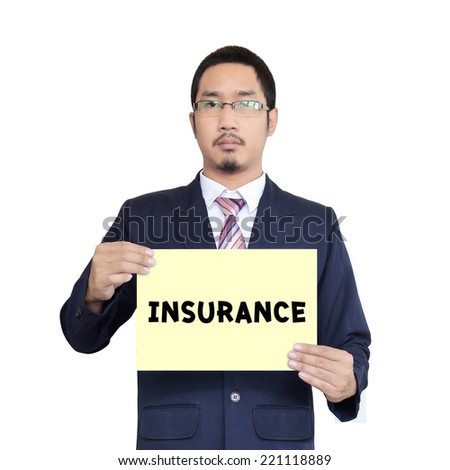 asia businessman holding the paper - stock photo