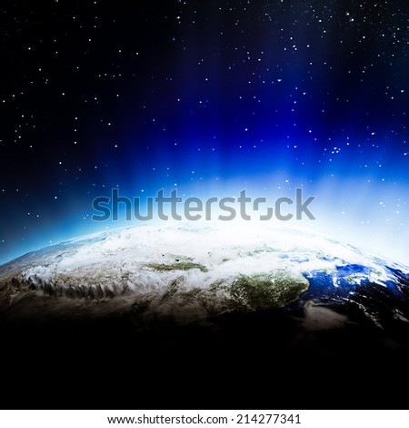 Asia clouds. Elements of this image furnished by NASA - stock photo
