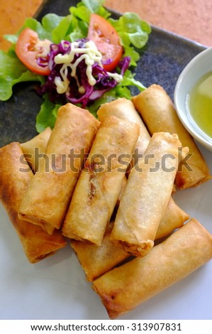 Asia deep fried snacks : Spring roll