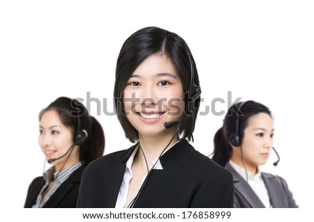 Asia female customer service - stock photo