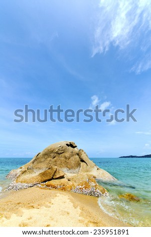 asia kho tao bay isle white  beach    rocks in thailand  and south china sea