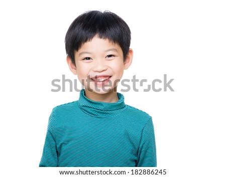 Asia little boy - stock photo